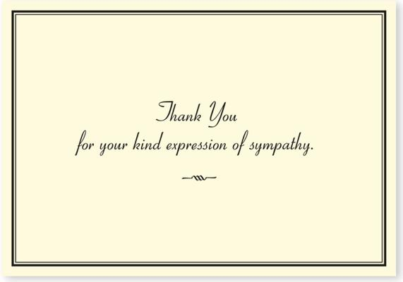 Sympathy Thank You By Peter Pauper Press (COR)